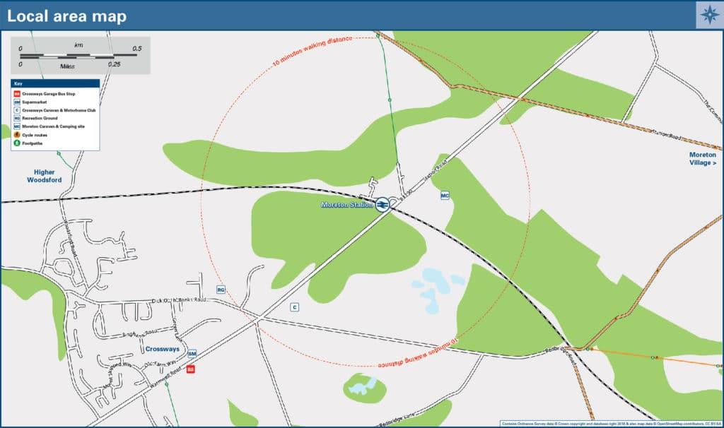 Moreton Village Map