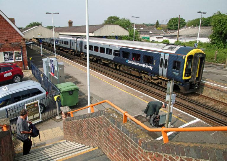 Wareham Station Swr Livery Train