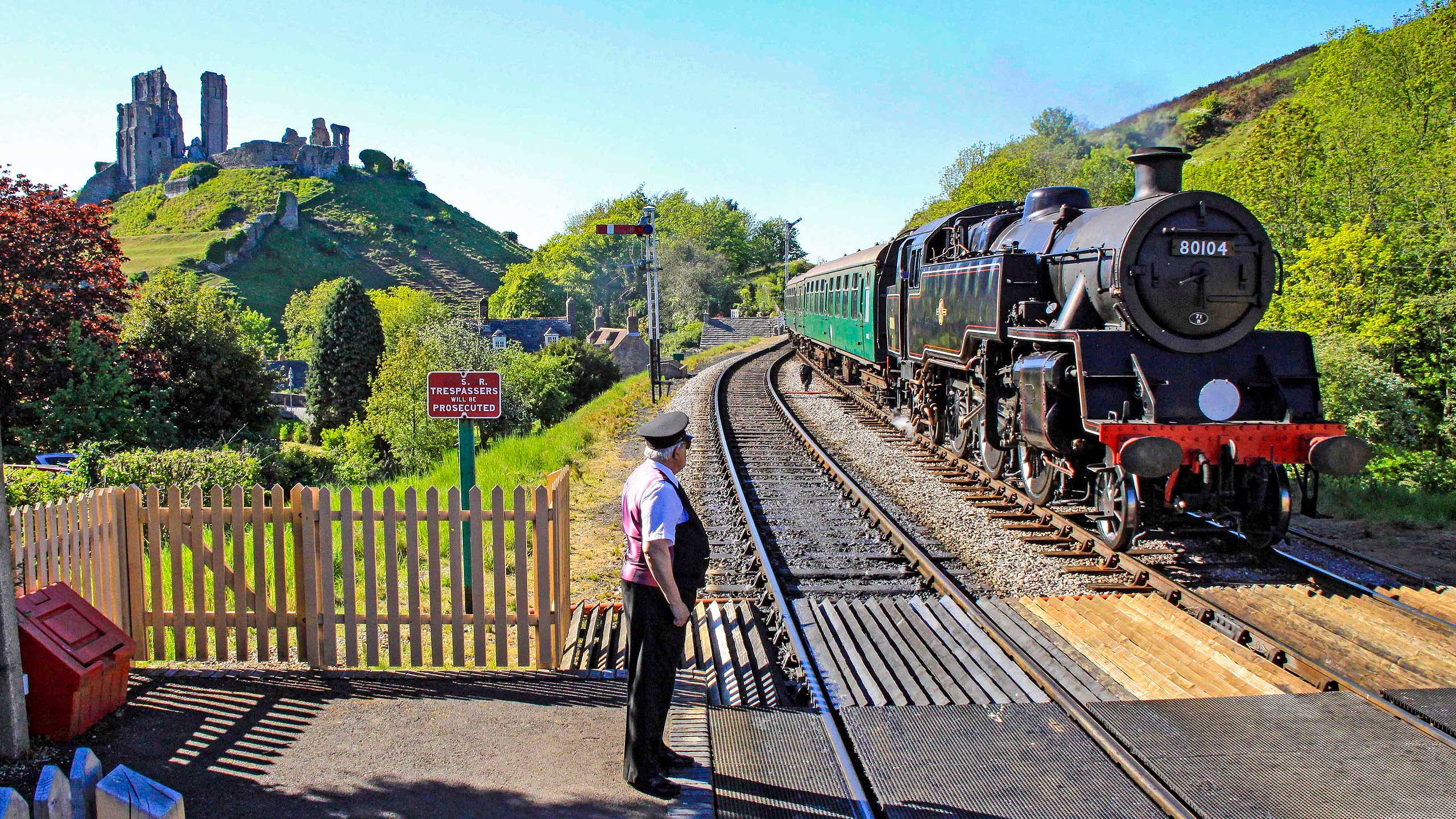 Purbeck Community Rail Partnership Sliding Banner Corfe Castle Railway Station 19 2560x1440px