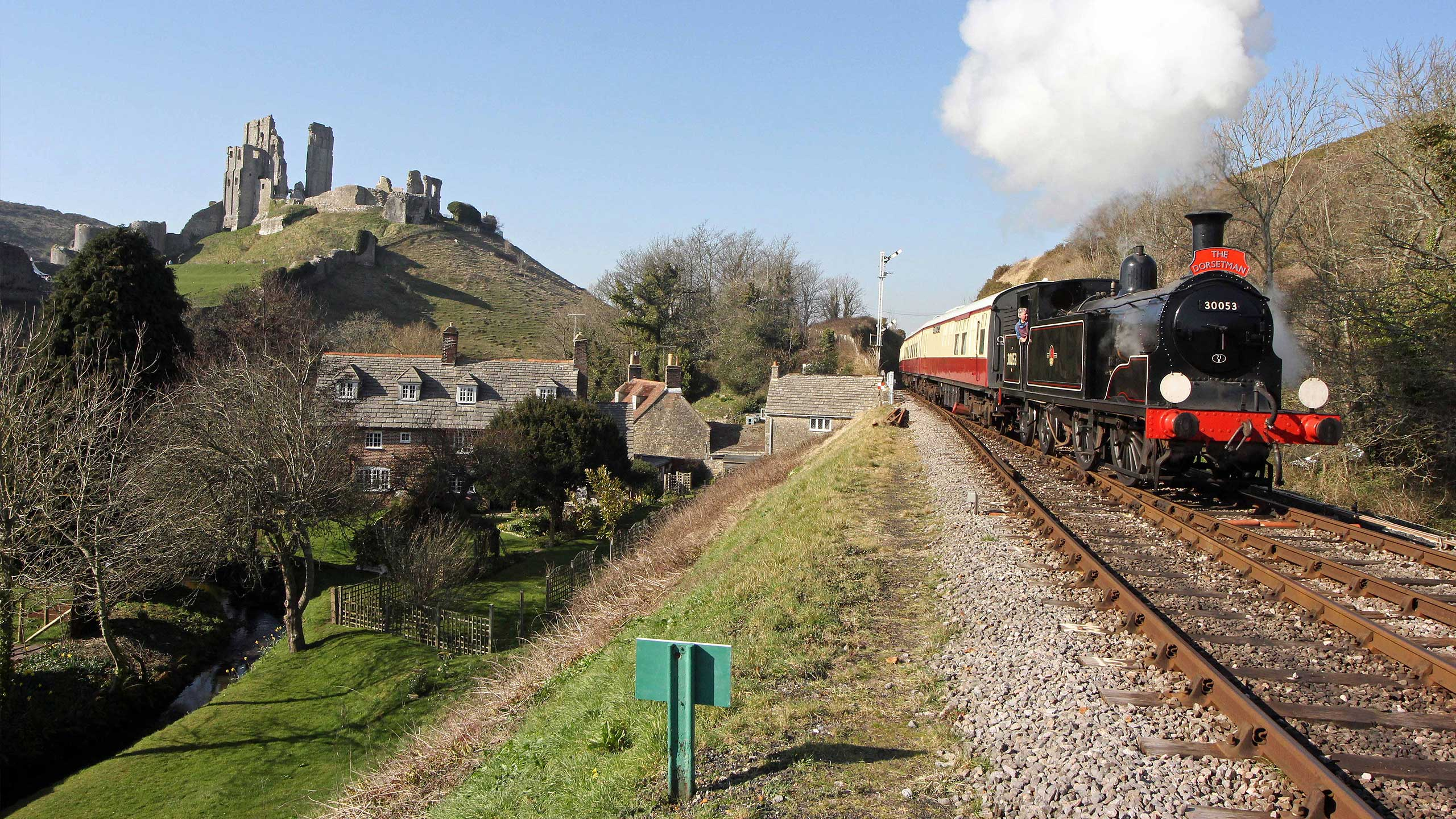 Purbeck Community Rail Partnership Sliding Banner Corfe Castle Railway Station 23 2560x1440px