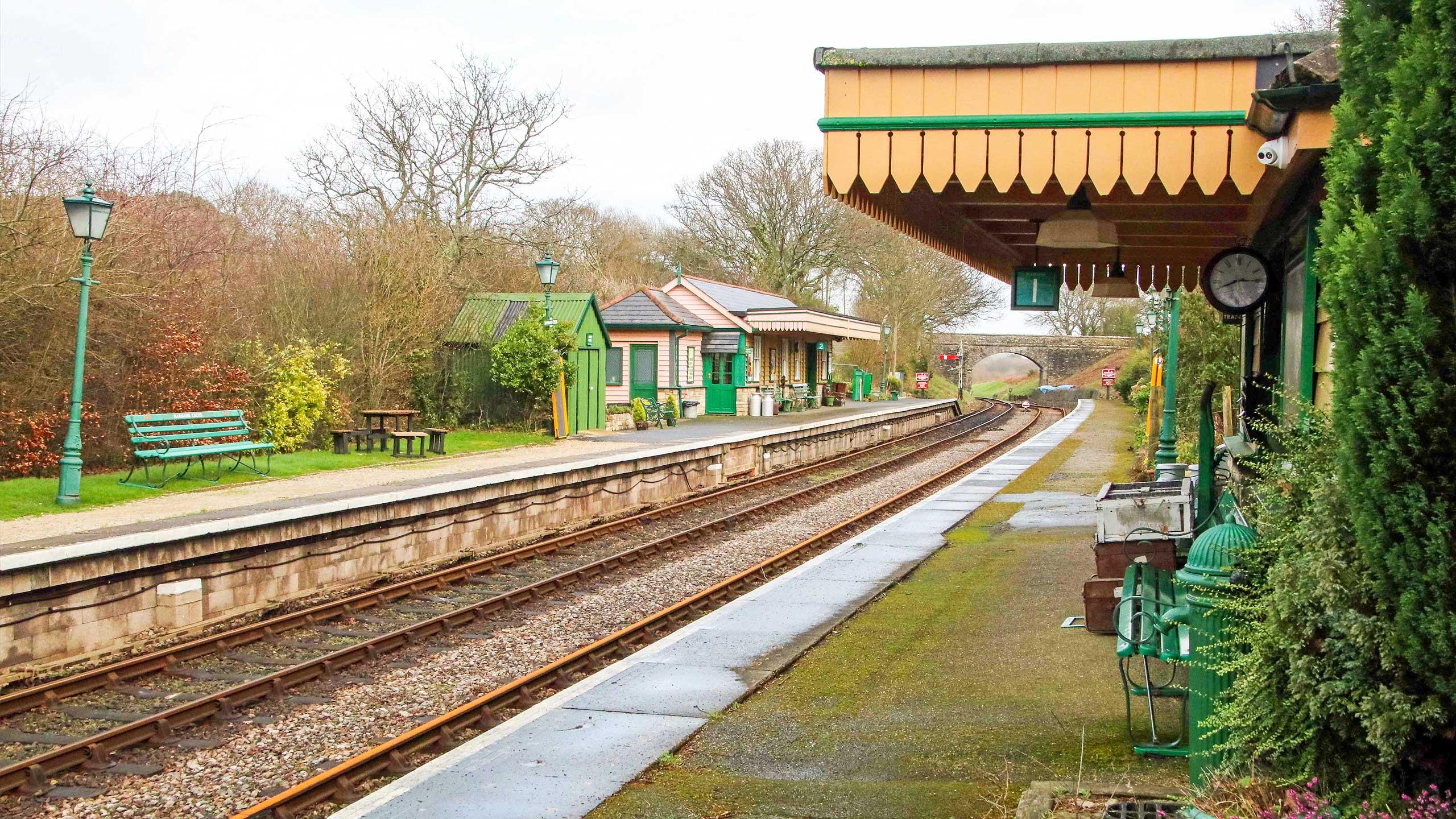 Purbeck Community Rail Partnership Sliding Banner Harmans Cross Railway Station 21 2560x1440px
