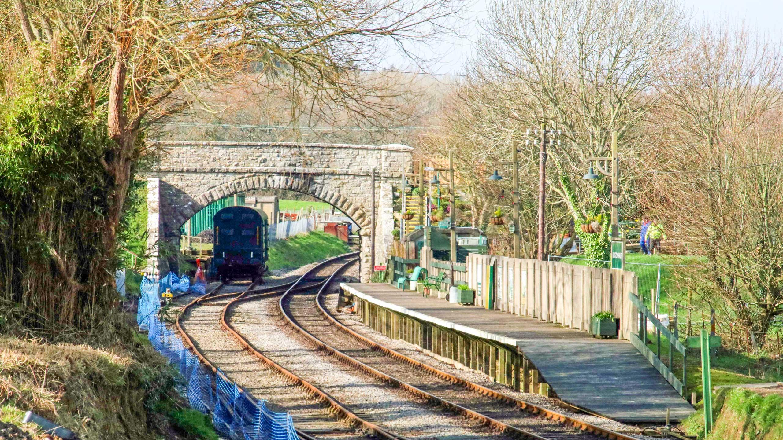 Purbeck Community Rail Partnership Sliding Banner Herston Halt Railway Station 01 2560x1440px