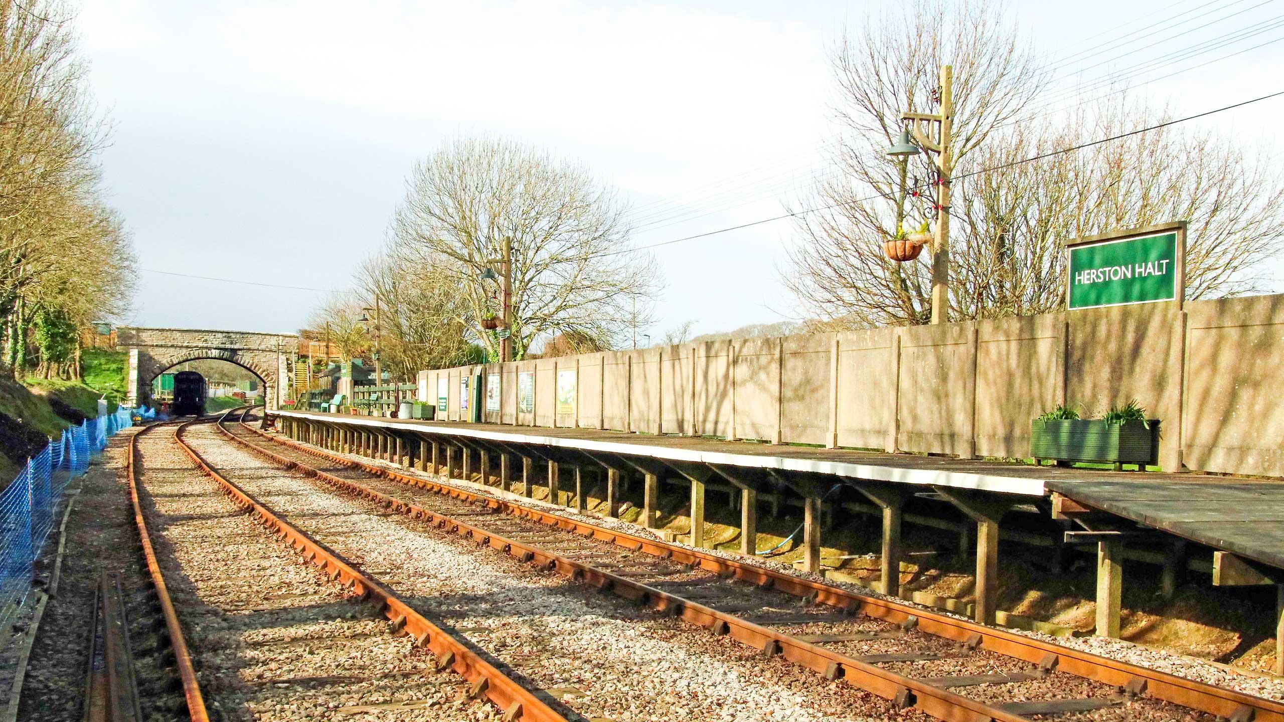 Purbeck Community Rail Partnership Sliding Banner Herston Halt Railway Station 03 2560x1440px