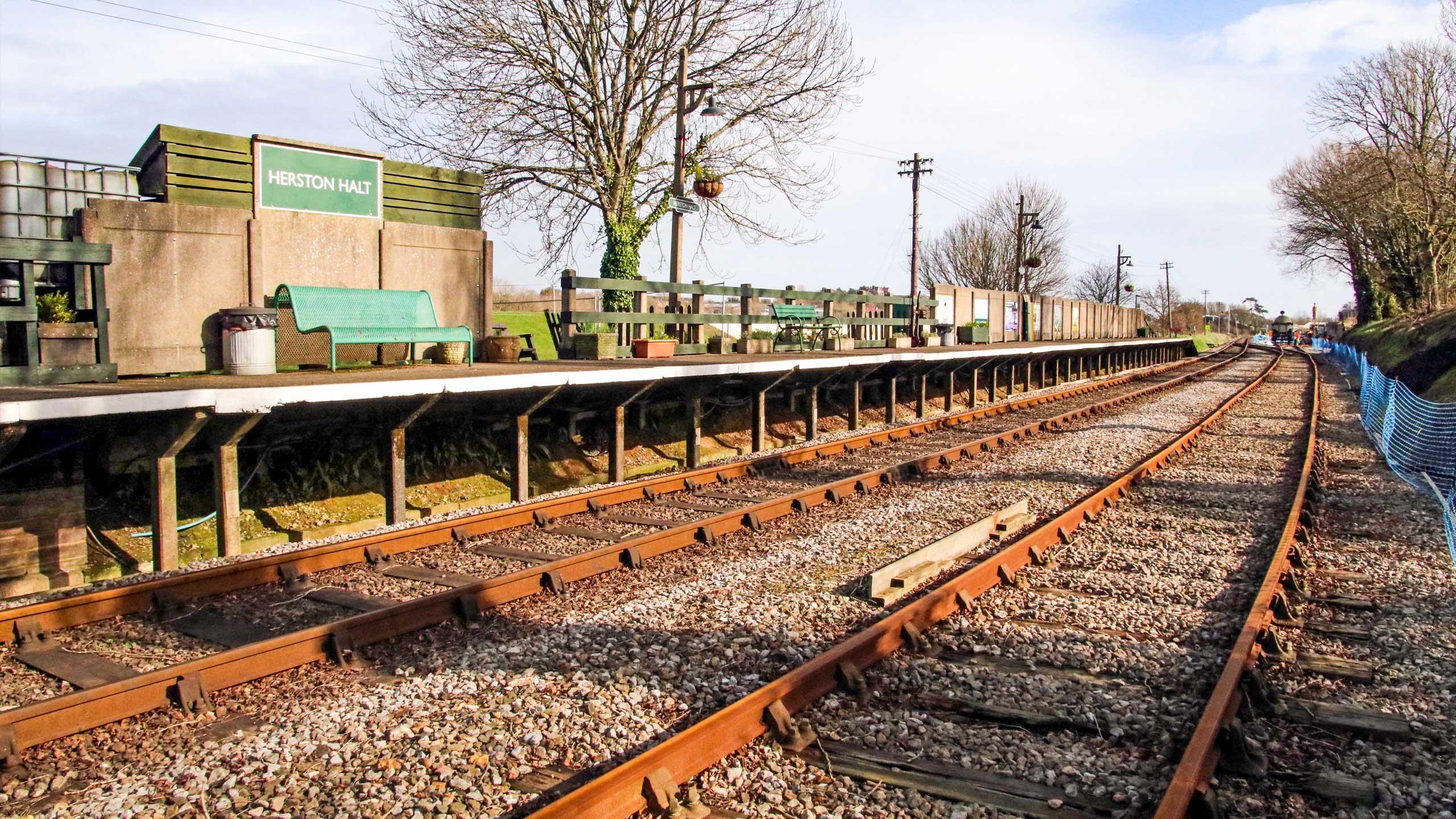 Purbeck Community Rail Partnership Sliding Banner Herston Halt Railway Station 07 2560x1440px