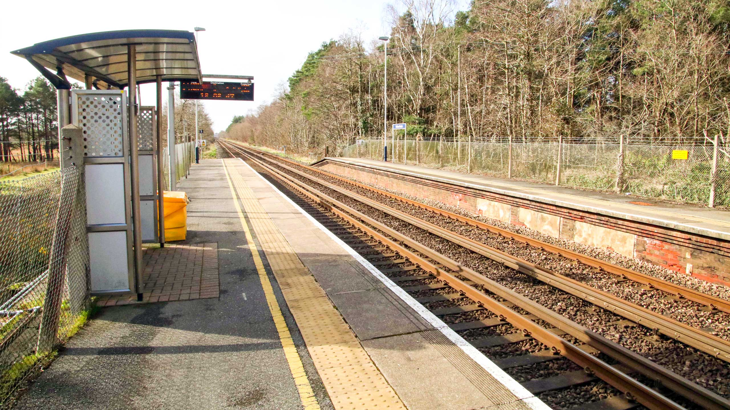 Purbeck Community Rail Partnership Sliding Banner Holton Heath Railway Station 07 2560x1440px