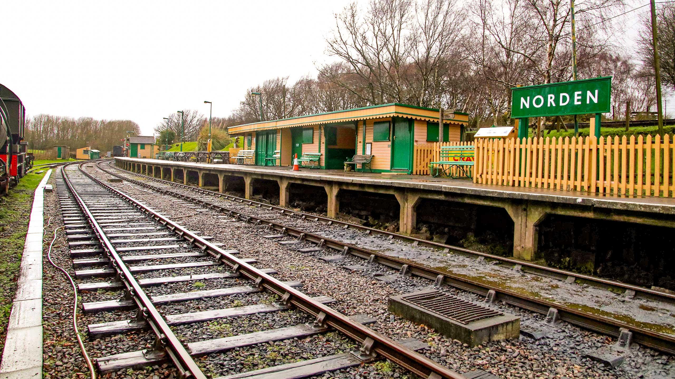 Purbeck Community Rail Partnership Sliding Banner Norden Railway Station 03 2560x1440px