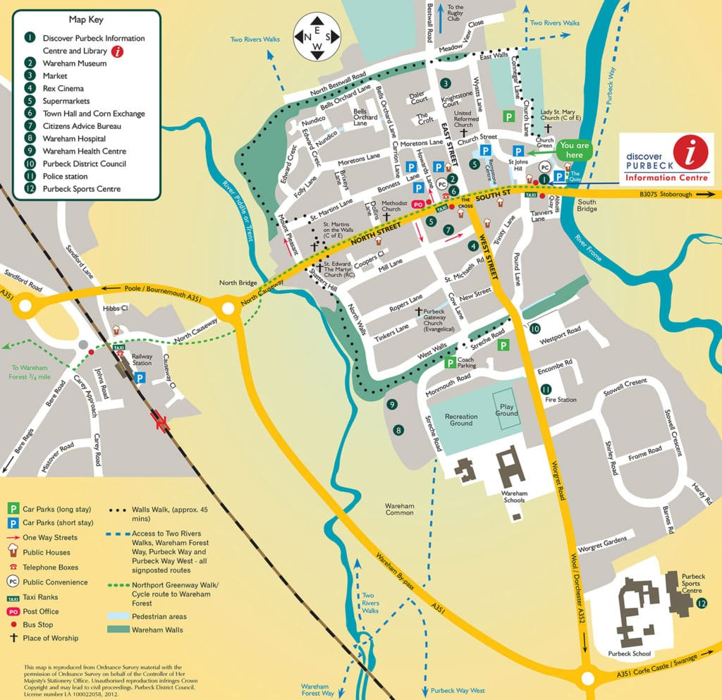 Wareham Map By Purbeck District Council