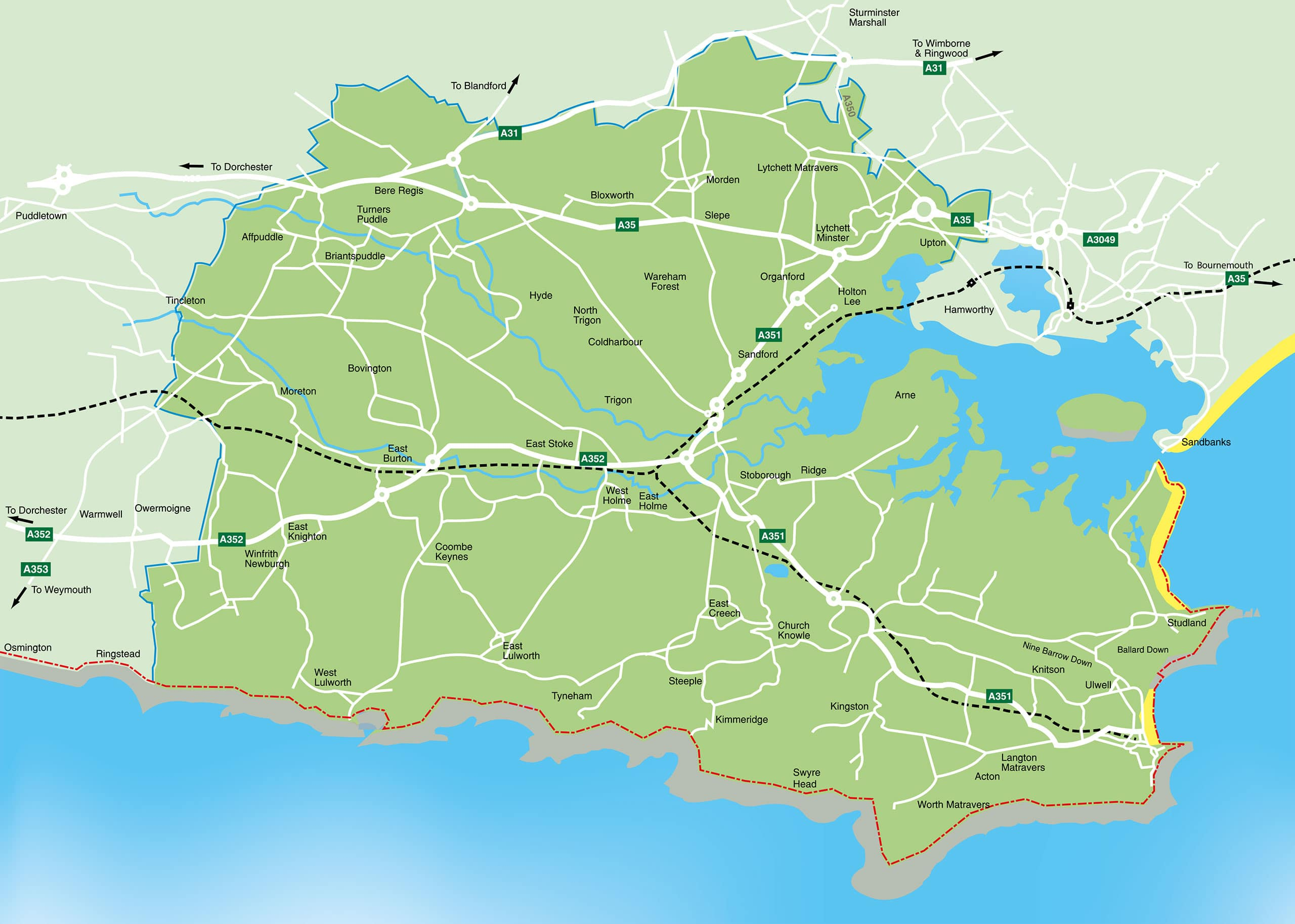 Pcrp Map Explore The Isle Of Purbeck