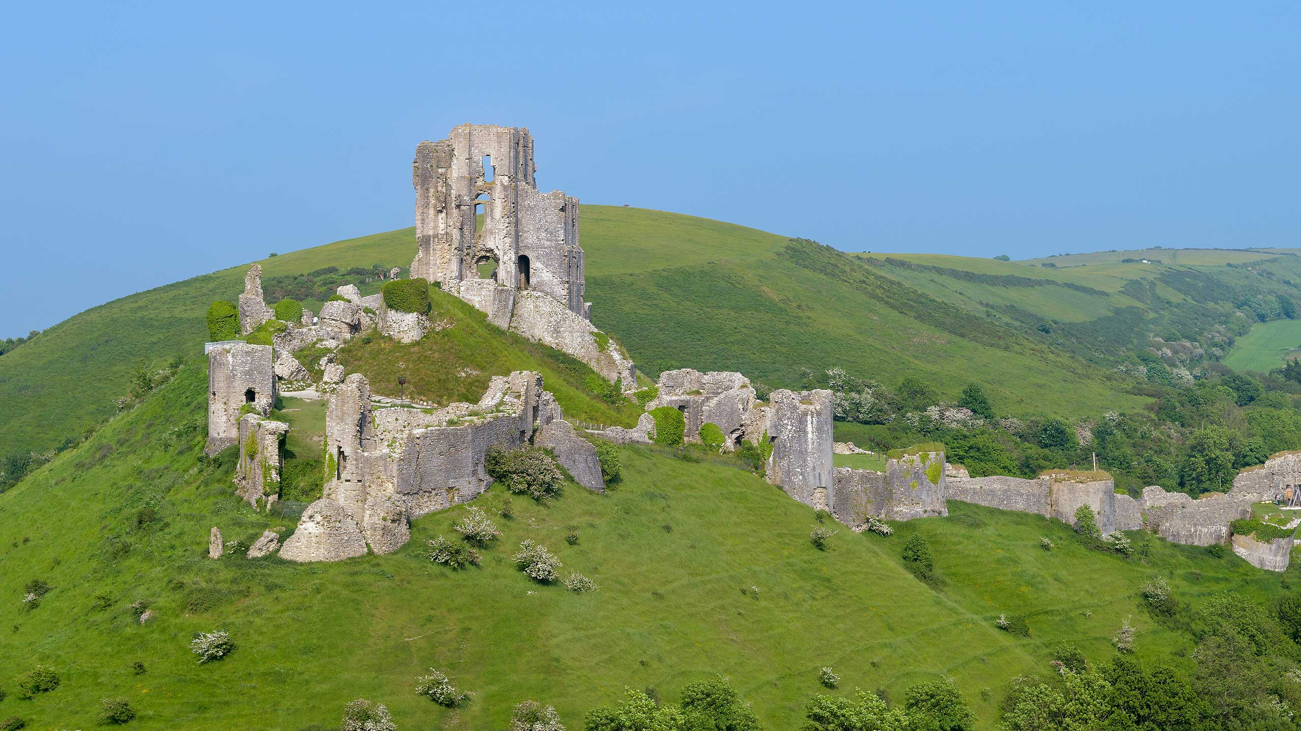 Purbeck Community Rail Partnership Sliding Banner Corfe Castle 2560x1440px