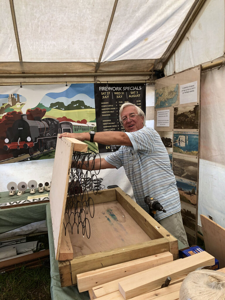 A Swanage Railway Volunteer At The Great Dorset Steam Fair