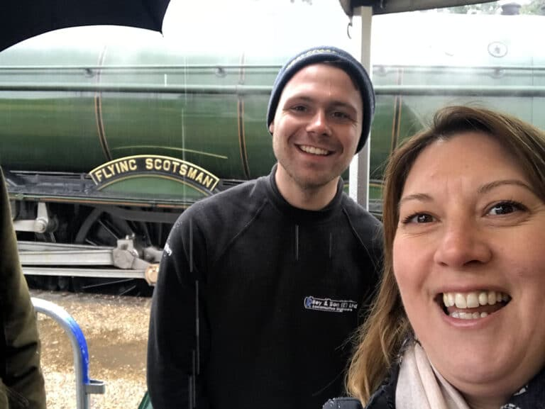 N&e Flying Scotsman Visit To Swanage Railway