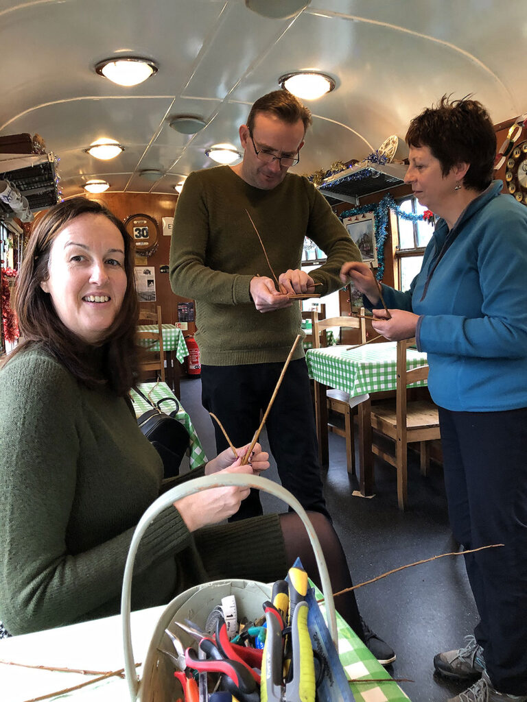 Wicker Weaving At Swanage Station 2019 03
