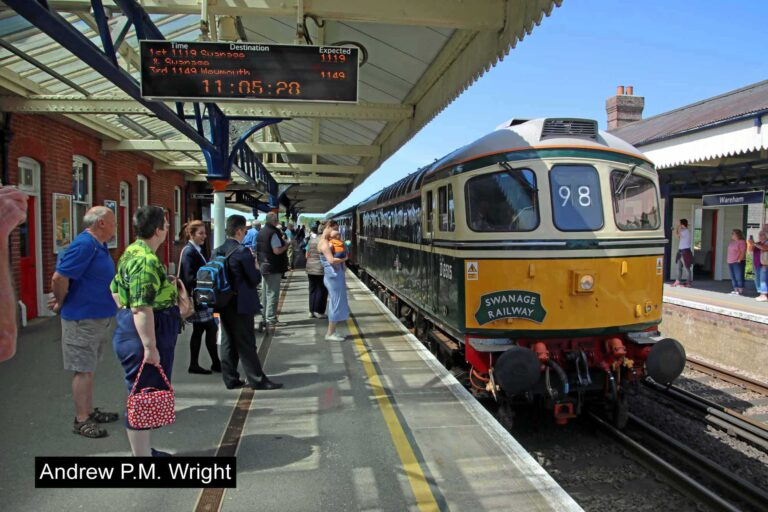 First Swanage Train At Wareham 2017 Andrew Pm Wright