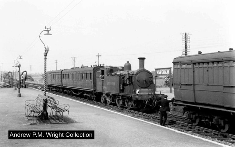 Wareham Station 1950s Andrew Pm Wright Collection